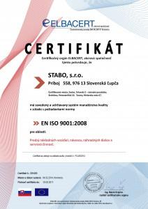 STABO ISO 9001 (2014-2017) SK